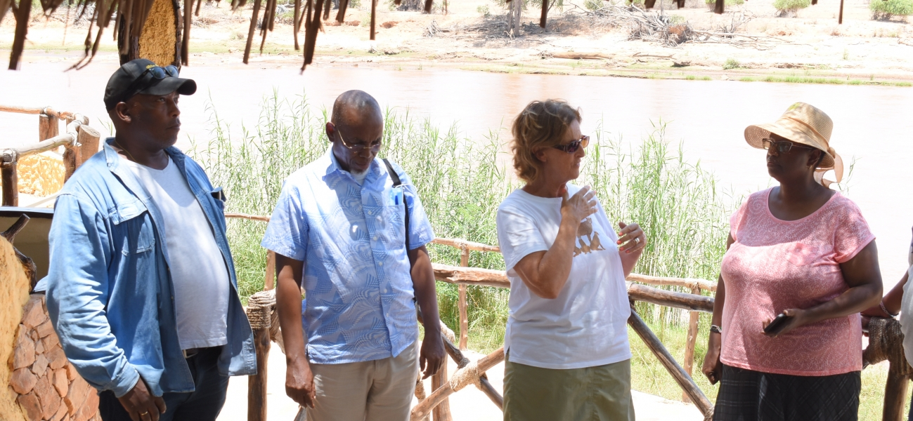 Board of Directors tour Coast region - Kulalu Camp