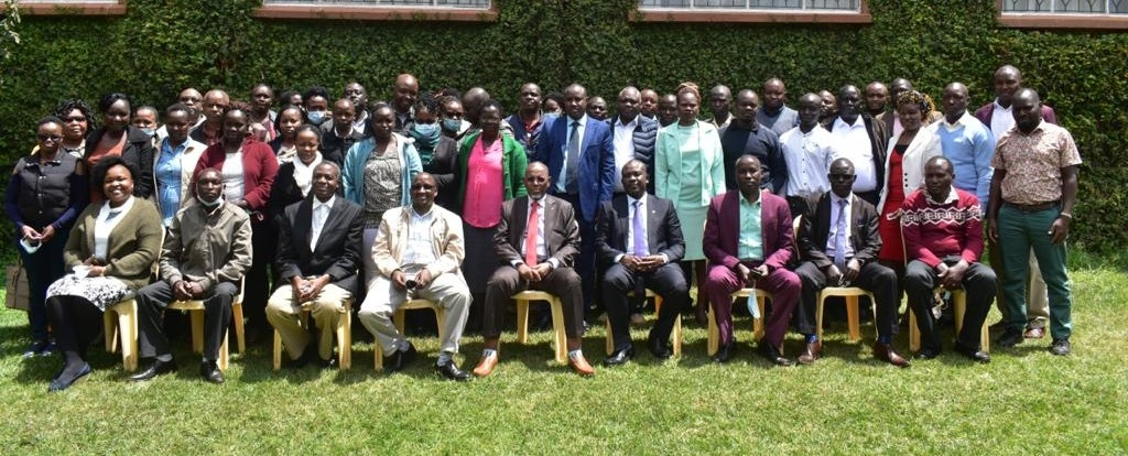 ADC Managing Director group photo with ADC Staff participating in Finance, Audit and Procurement Conference - Garden Hotel Machakos